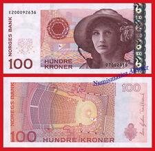 NORUEGA NORWAY 100 Kroner coronas 2003 2010 Pick 49  SC / UNC