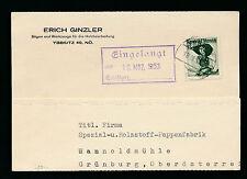 Geschäfts-Postkarte 1953 aus Ybbsitz, Säge und Werkzeuge für Holz   23/11/15