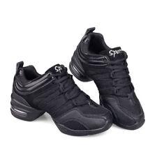 NEW Women's Light Breathable Black Modern Jazz Hip Hop Line Dance Shoes Sneakers