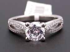 Scott Kay Palladium Round Cut Diamond Engagement Promise Ring M1172