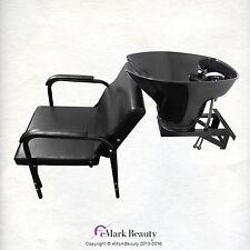 ABS Plastic Tilting Shampoo Bowl Wall Mounted Shampoo Sink & Chair TLC-B36-WT