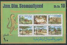 Somalia: 1977; Scott 444 - 449 S.S 449a, Protected animals. Mint, NH. SM01