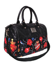 Liquor Brand Sacred Hearts Birds Roses Punk Gothic Round Bag Purse LB-BRB-00030