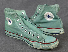 Converse All Star Chuck, talla 43, UK 9,5 verde, canvas/lona, used