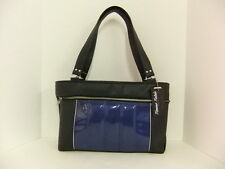 Femme Fatale Miss Minx Bag Dark Blue Sparkle/Black Pinup Rockabilly Hotrod Retro