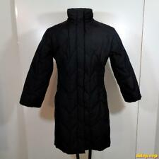 DKNY PUFFER Down insulated Polyester LONG Ski Coat Parka 6 Black