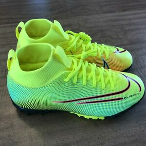 NEW Nike Superfly 7 MDS02 TF JR Volt Soccer Turf Shoes Youth Size 3Y BQ5407-703