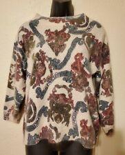 Vintage 80s Extra Energy Angora & Silk Blend fuzzy sweater Sz L boho Baroque