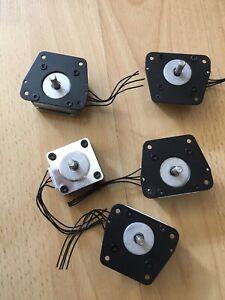 Schrittmotoren Set 5 Stück 14HY7001-03 Arduino 3D Drucker oder CNC Portalfräse