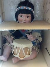 Danbury Mint Native Americian Doll Song Of The Sioux Artaffects By Perillo box