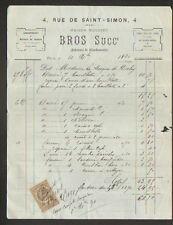 """PARIS (VII°) USINE de BATTERIES DE CUISINE """"Maison MOUSSET BROS Succ."""" en 1890"""
