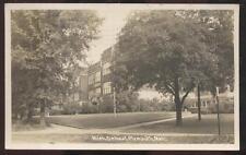 REAL PHOTO Postcard PLYMOUTH Michigan/MI  High School Campus Building 1930's