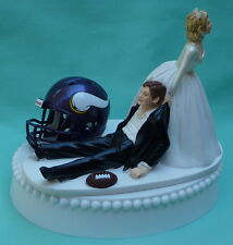 Wedding Cake Topper Minnesota Vikings Football Themed Vikes Sports Bridal Fun