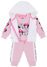 Primark Disney Mickey Minnie Mouse 3 Piece Baby Girls Tracksuit Set 6-36 Months