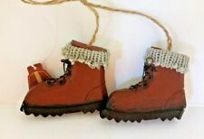 Hiking Boots Christmas Ornament Gift Hunting Camping Country