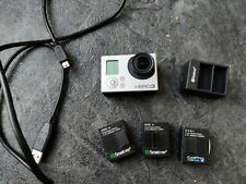 GoPro Hero 3 Silver Edition Camcorder Recoding With 3 batteries