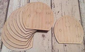 Set of 10 laser cut wooden hobbit fairy faerie elf doors unpainted D1