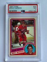 1984 TOPPS HOCKEY DETROIT RED WINGS STEVE YZERMAN ROOKIE CARD PSA 7 NM #49