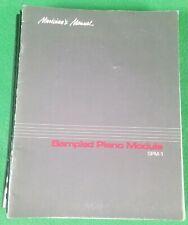 SPM-1 SAMPLED PIANO MODULE MUSICIAN'S MANUAL
