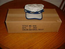 LOT OF (24) 2 DOZEN FAHRENHEIT HATS, STYLE NO. 446 COLOR:NATURAL/NAVY-WITH FISH