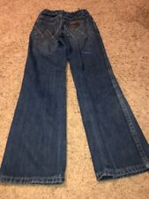 •Wrangler Kid's 100% Cotton Mid Rise Relaxed Boot Size 10 Slim