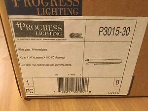 Progress Lighting White Bathroom Fixture P3015-30