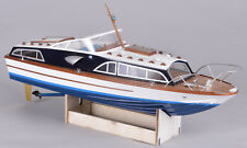 """Fairey Huntsman 31 23.5"""" Boat Model Wooden boat kit and stand 1/16 scale"""