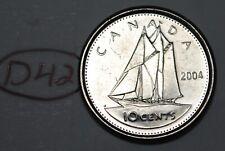 Canada 2004 P 10 cents Elizabeth II Canadian Dime Lot #D42