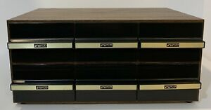 Faux Woodgrain Futura 6 Drawer Cassette Tape Storage Cabinet Holds 72 Total