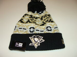 Pittsburgh Penguins Cap Hat NHL Hockey New Era Beanie Toque Retro Chill Knit OS