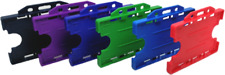 Double Sided Plastic Rigid ID Card Holder ID Badge Holder Free POSTAGE