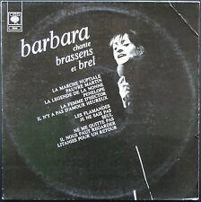 BARBARA CHANTE BREL ET BRASSENS Enregistrements originaux 33T LP CBS 63.436