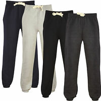 NEW MENS WOMENS JOGGERS TRACKIES PANTS BOTTOMS BLACK JOGGING GYM FLEECE UK S-XX
