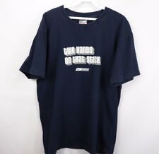 Nike Bauer Mens XL Two Hands on the Stick Short Sleeve Graphic T Shirt Navy Blue
