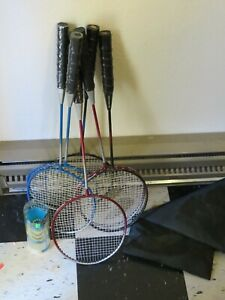 Badminton Rackets Set Of Six With Bag And shuttlecocks