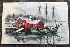 Lot of 61 Vintage Postcards Cards Winter Boat Scene ~ Red Farm Studio ~ Unposted