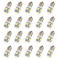 New 2 x White  T11 BA9S 5050 SMD 5 LED Car Light Bulb Lamp 12V