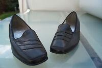 ARA Damen Schuhe Slipper Pumps weiches Leder schwarz schick Gr.4,5 H 37,5 NEU +1