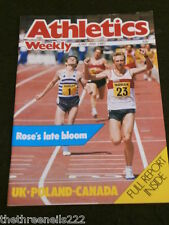 ATHLETICS WEEKLY - UK-POLAND-CANADA FULL REPORT - JUNE 20 1987