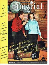 Publicité advertising 107 1955 velvet velcorex Armorial jacket ti club