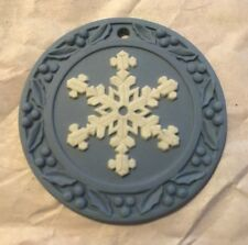 "Wedgwood Annual Ornament ~ 2003 ""Snowflake"" ~ Blue Jasper ~ Mint Condition"