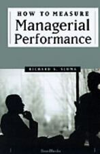 How to Measure Managerial Performance (Paperback or Softback)