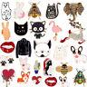 Cute Enamel Puppy Dog Cat Shirt Collar Lapel Pins Brooch Pin Women Jewelry Gift