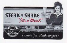 "Steak N Shake Old Time Waitress Car-Hop ""It's a Meal"" Die-Cut 2013 Gift Card"