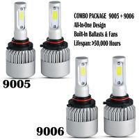 9005 9006 4PCS Combo Total 3900W 585000LM LED Headlight Kit High Low Beam 6000K