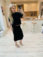 Topshop Wool Angora Jumper Black Cropped Warm Fluffy 14 But Fits Small