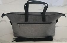 HUGO BOSS PARFUMS gray black weekender shoulder bag duffle travel gym NEW