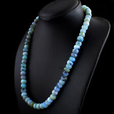 263.00 Cts Natural Round Shape Untreated Peruvian Opal Beads Necklace NK 13MK4