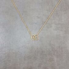 Peace and Love Gold Plated Necklace Gift Box World Happiness Yoga Hippie Hippy