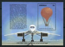 Dominica 1993 MNH First Airmail Flight 1v S/S Hot Air Balloon Concorde Stamps
